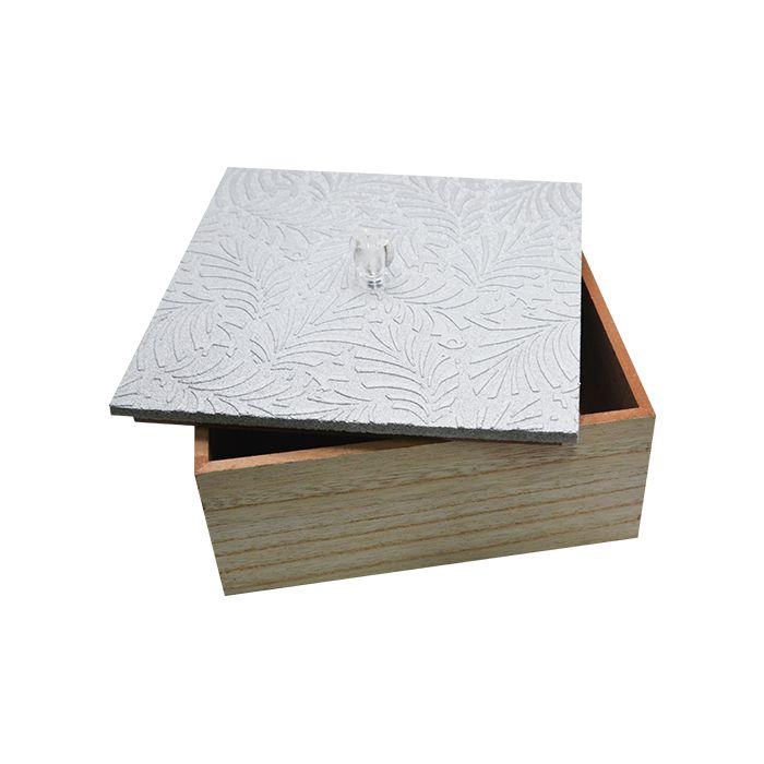 Caixa Porta Treco Madeira 20X20X9Cm