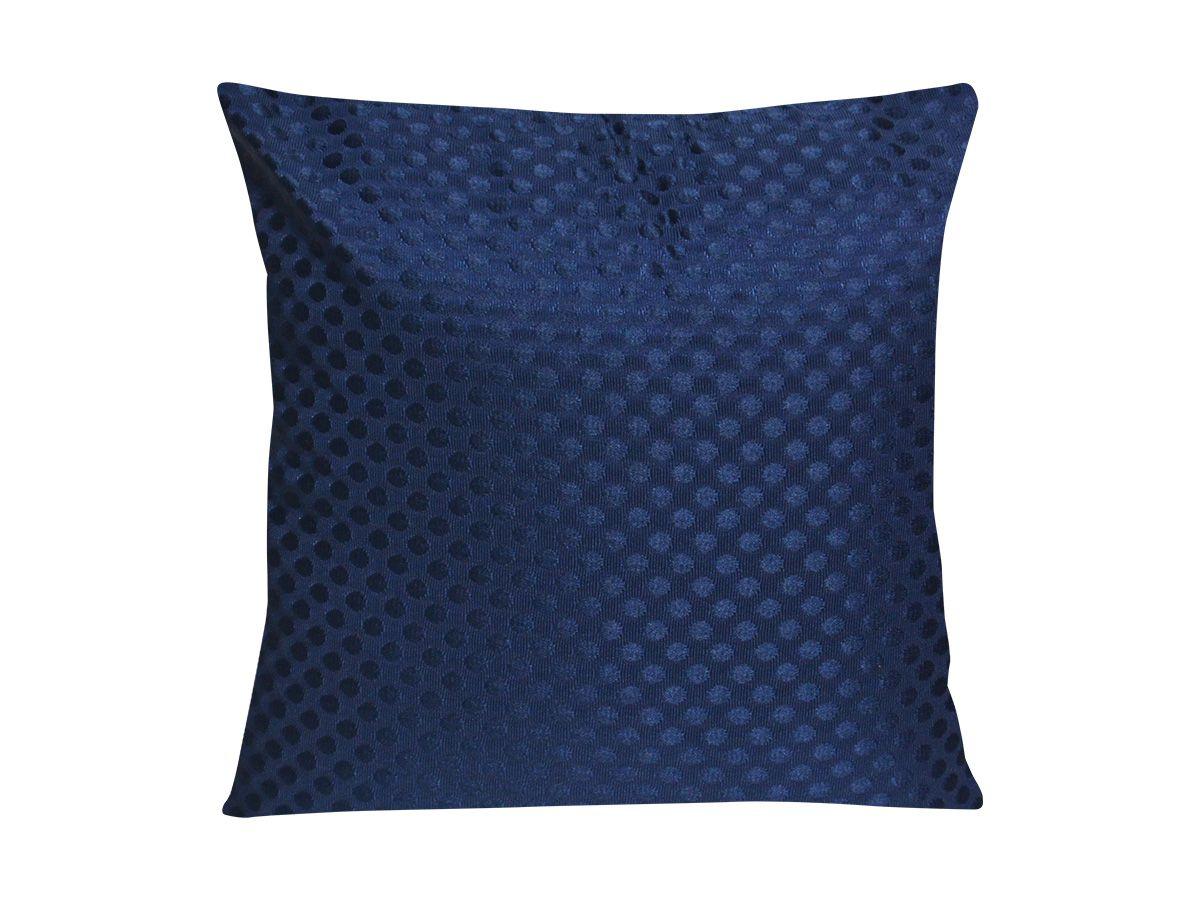 Capa De Almofada Polyester Adamascado Ziper 43X43 Azul