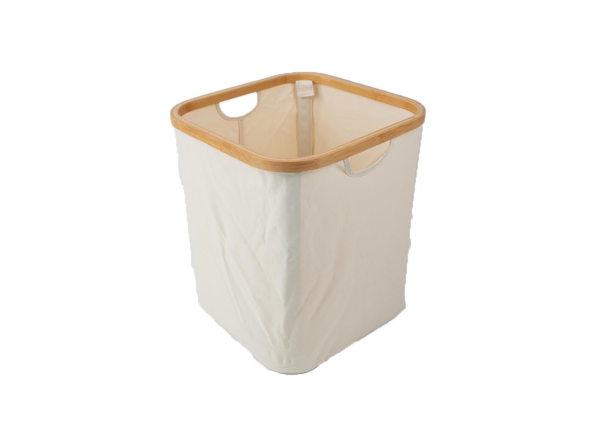 Cesto Organizador Thai Tecido com Bambu 33x33x38,5cm