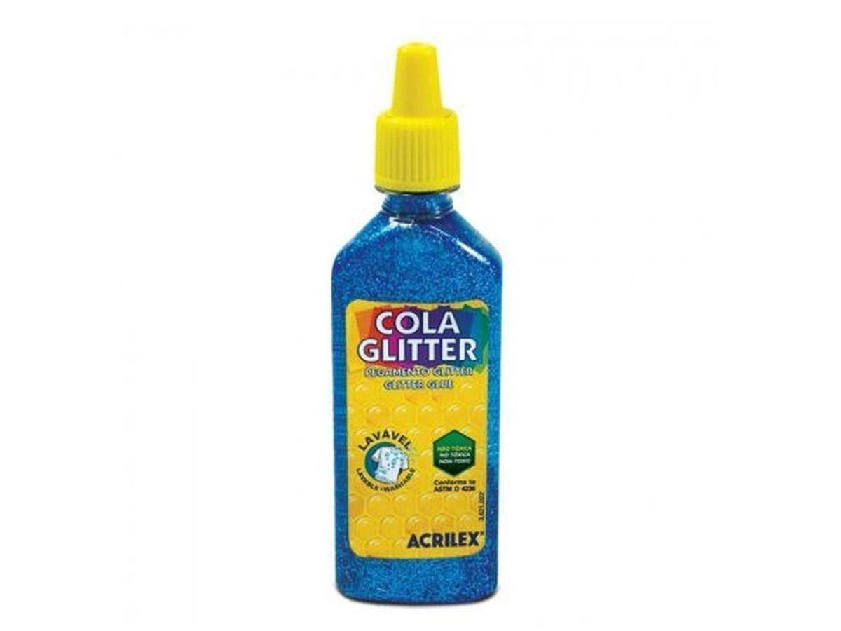 Cola Glitter Azul 23G Unidade