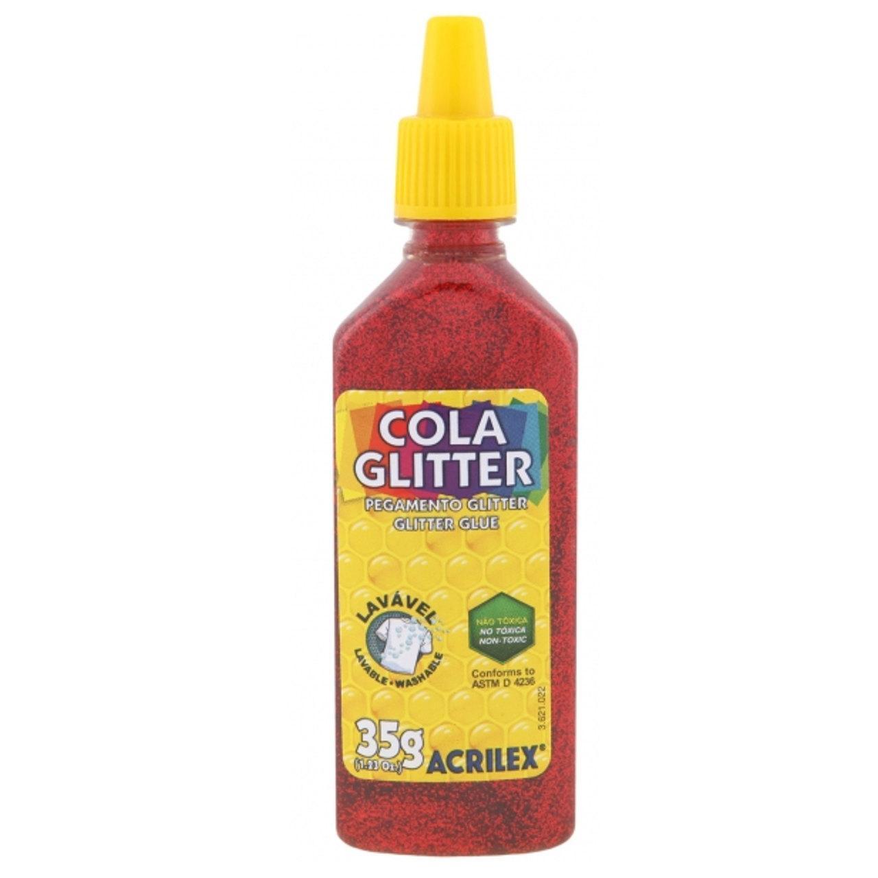 Cola Glitter Vermelho 23G Unidade