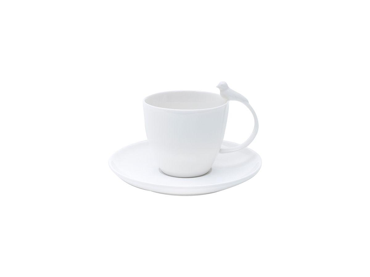 Conjunto 6 Xícaras De Chá Com Pires De Porcelana Birds 200Ml