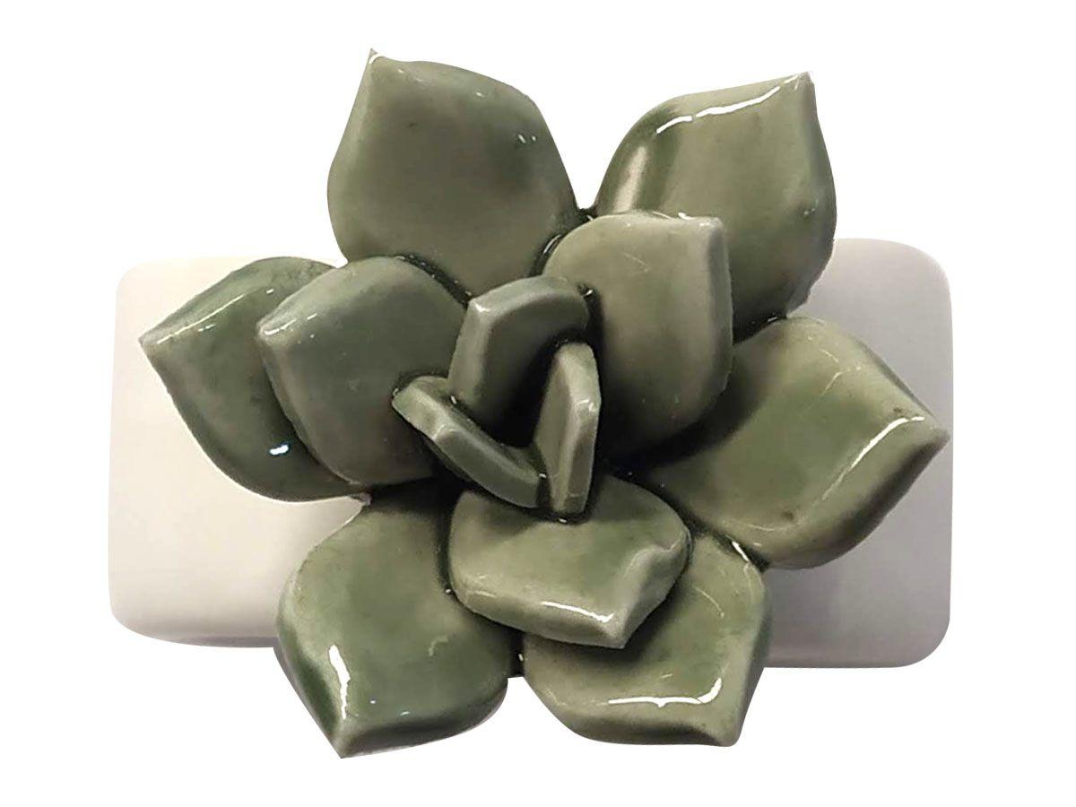 Conjunto com 06 peças de Porta Guardanapos em Cerâmica - Suculenta