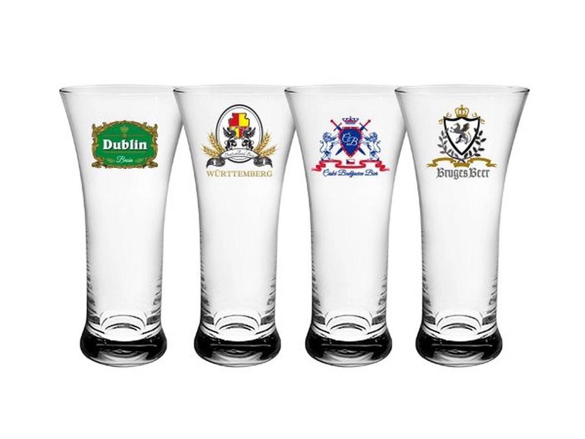 Copo Para Cerveja Frank Sortido Cristal Ecologico 300ml 4pc