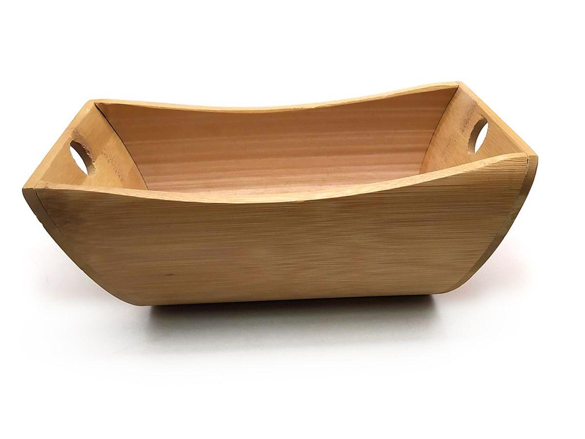 Cumbuca Com Divisoria De Bambu 21,7 X 11,5 Cm
