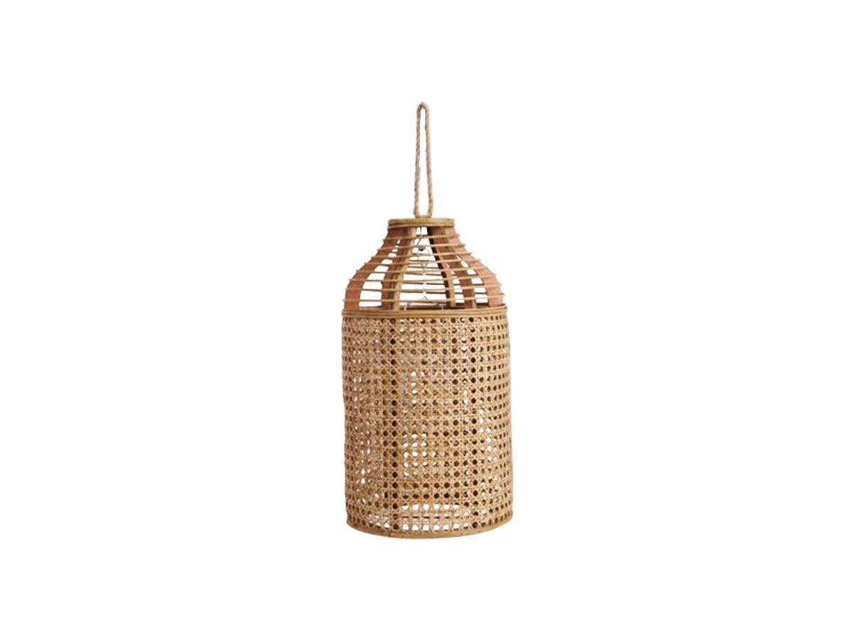 Cupula Lanterna Porta Velas de Rattan 44 cm