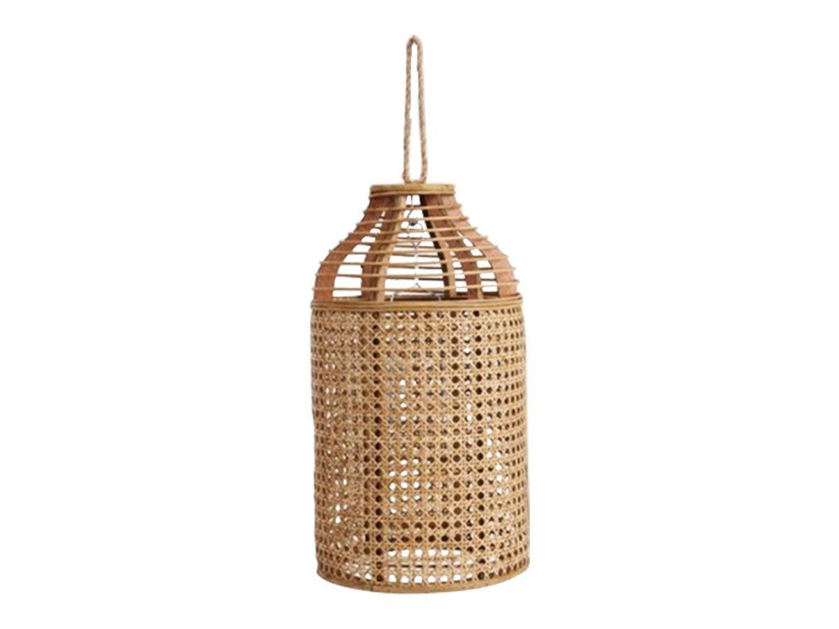 Cupula Lanterna Porta Velas de Rattan 55cm