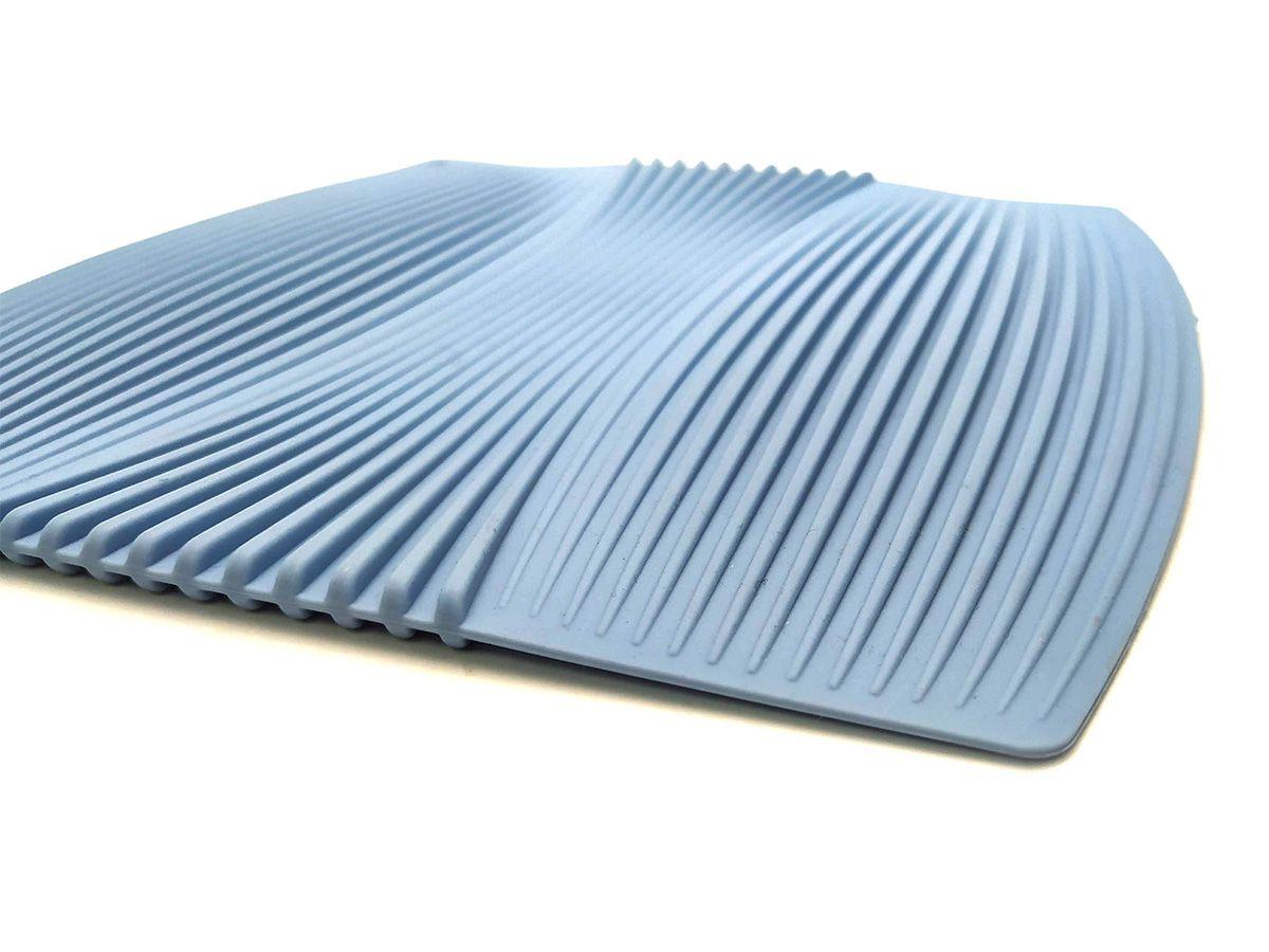 Descanso De Panela Em Silicone 20X20Cm Azul
