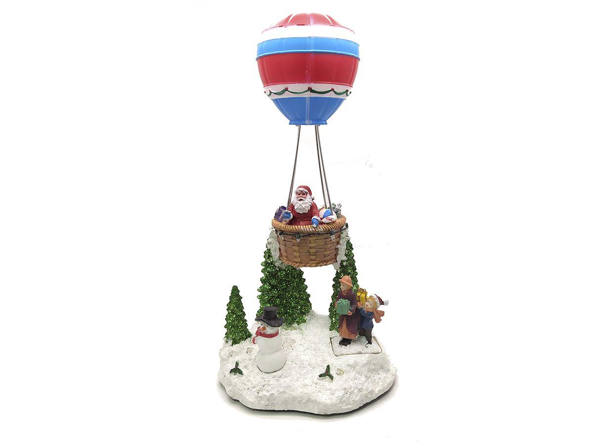Enfeite Natalino Com Luz Papai Noel No Balão