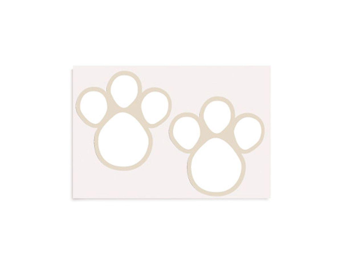 Etiqueta Adesiva De Páscoa Pegadas G Branco Com 2 Cartelas