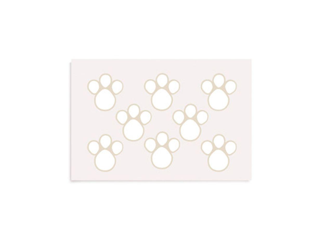 Etiqueta Adesiva De Páscoa Pegadas M Branco Com 2 Cartelas