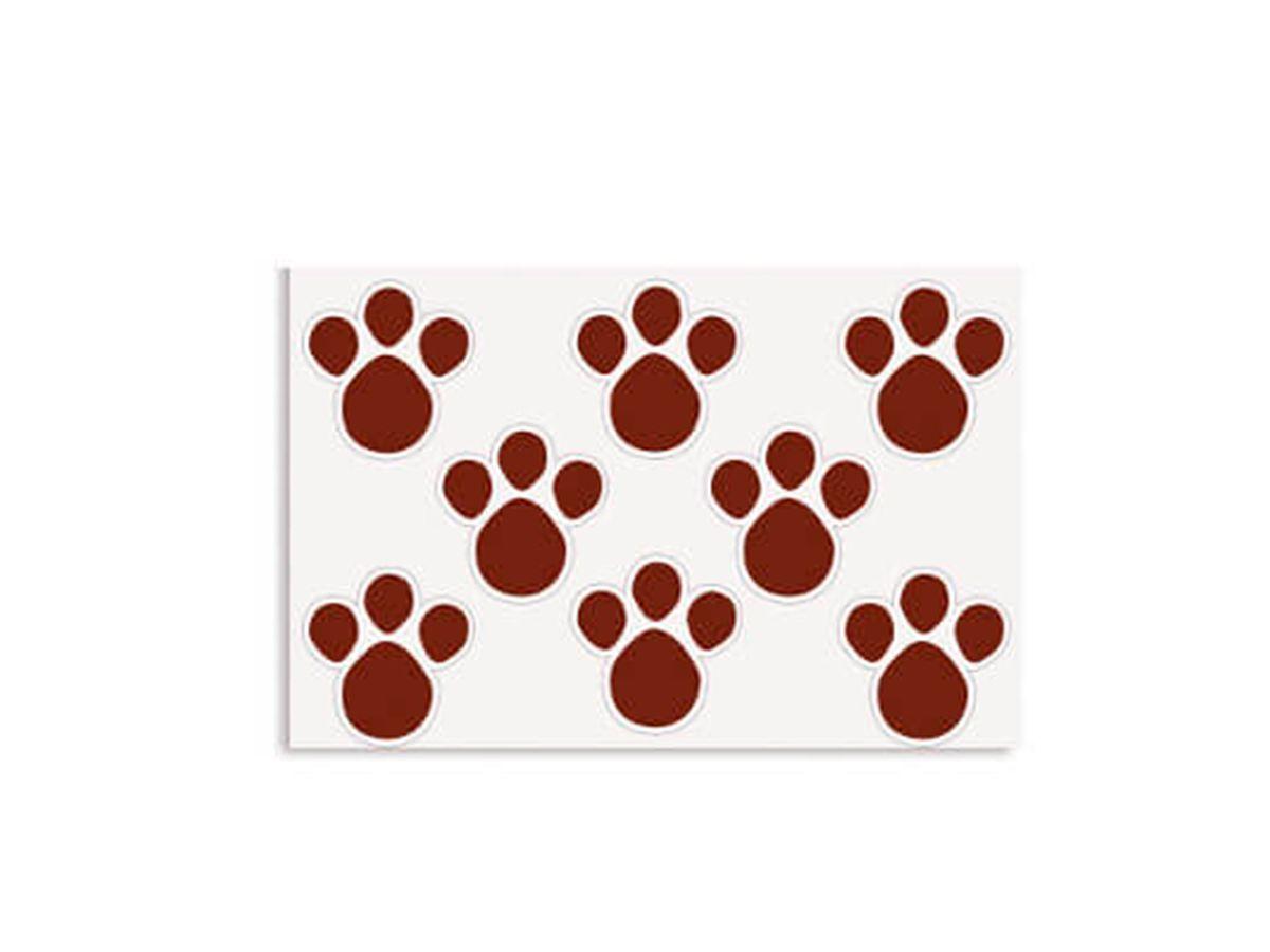 Etiqueta Adesiva De Páscoa Pegadas M Marrom Com 2 Cartelas