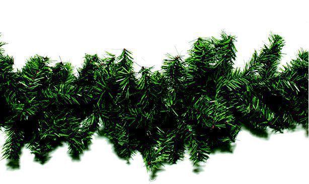 Festão Aramado Natalino Verde 270 Cm 300 Galhos
