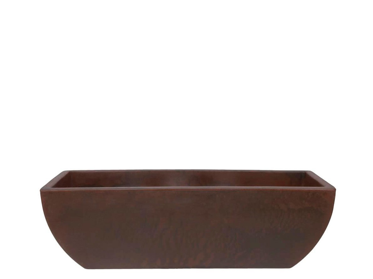 Floreira Rotomoldado Malta Antique Rusty 80 X 25 Cm