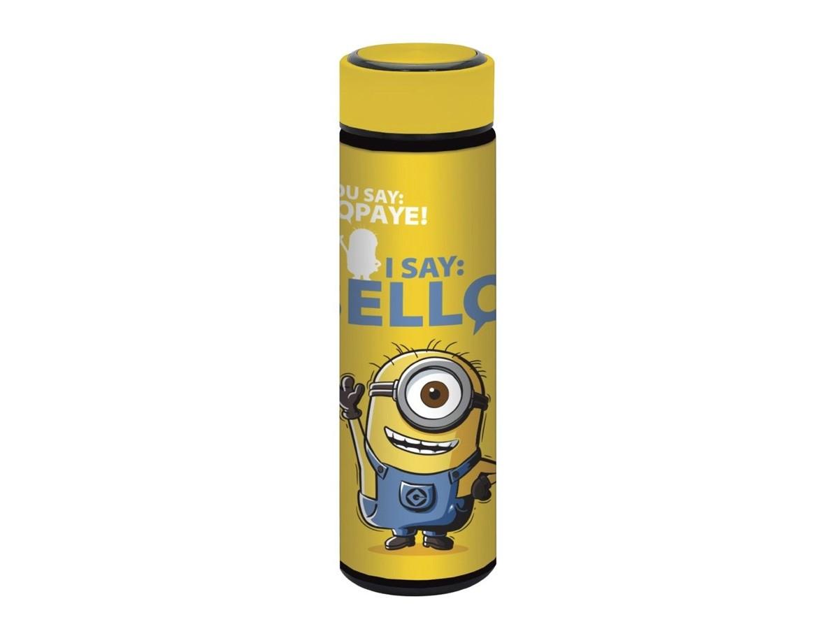 Garrafa térmica em Inox com Rubber Touch Wb Minions Hello Amarelo - 500 ml