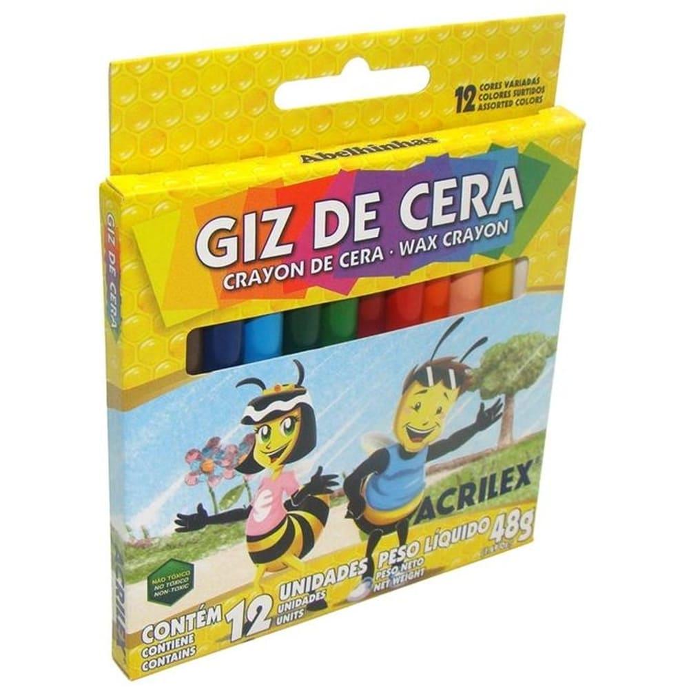 Giz De Cera Fino 48Grs Cx C/ 12 Cores