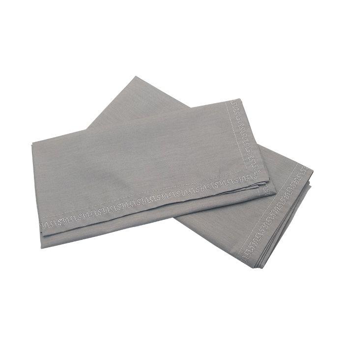 Guardanapo Tecido Misto Cinza C/2 45X45Cm