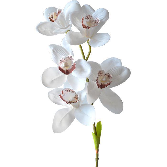 Haste Permanente Orquídea Cymbidium Silicone Toque Real