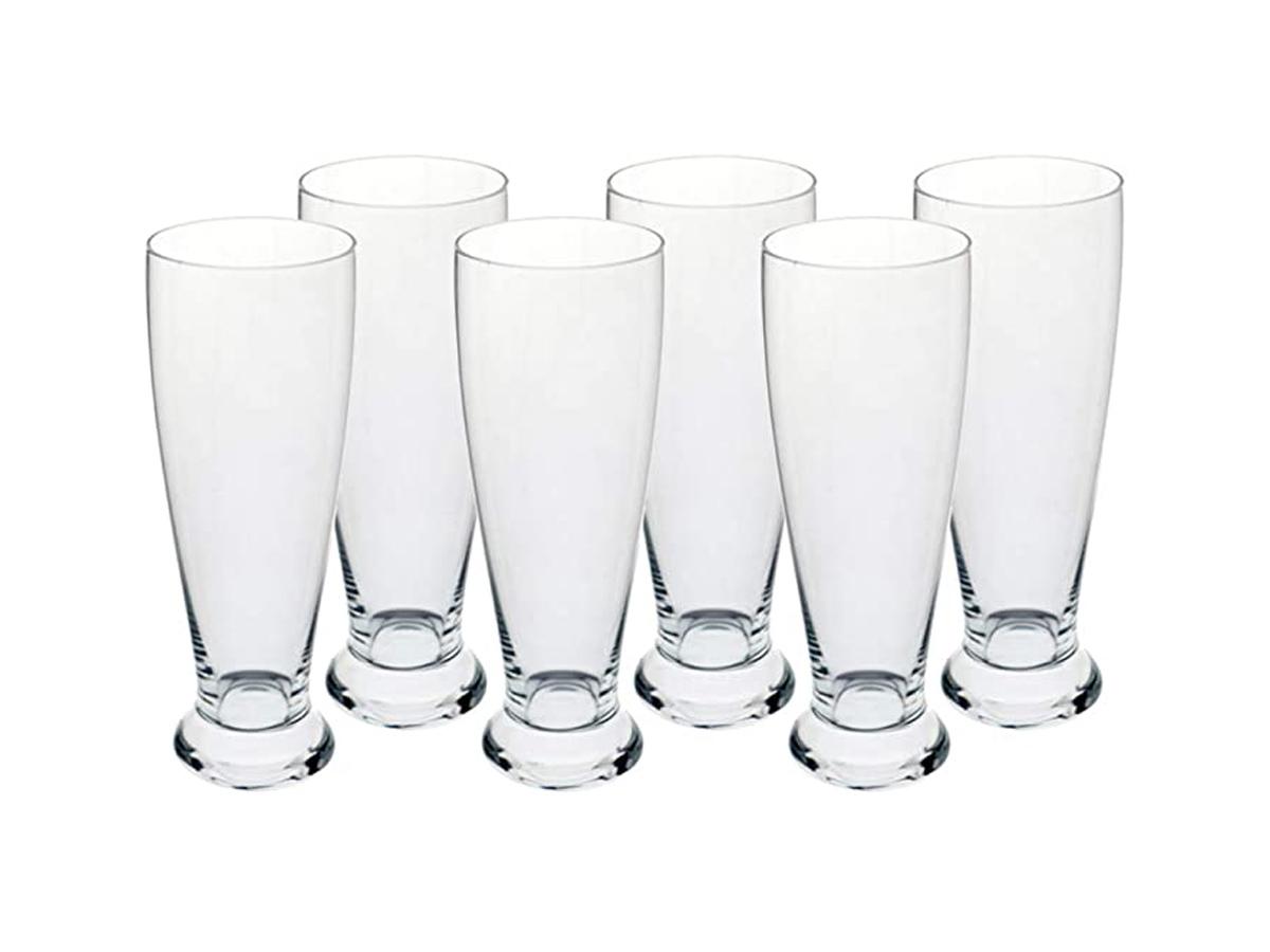 Jogo 6 Copos Cerveja Pilsner Em Cristal Ecologico