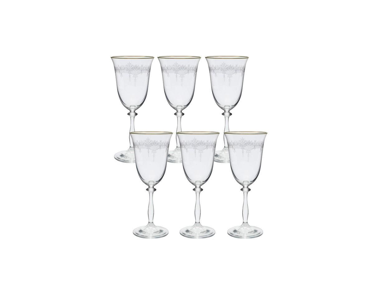 Jogo 6 Taças Cristal Ecologico Angela Agua 350 ml