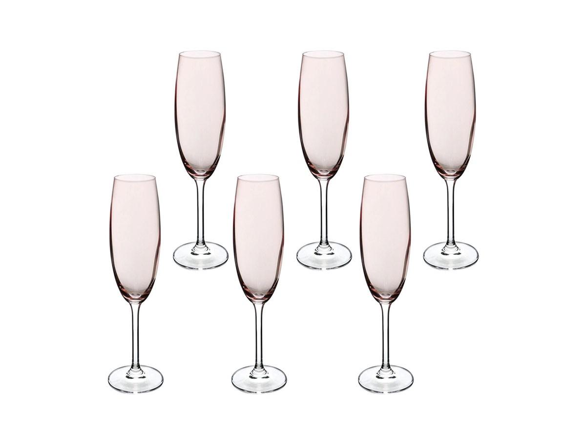 Jogo 6 Taças Cristal Ecológico Gastro Champagne Rosa Millen 200 ml