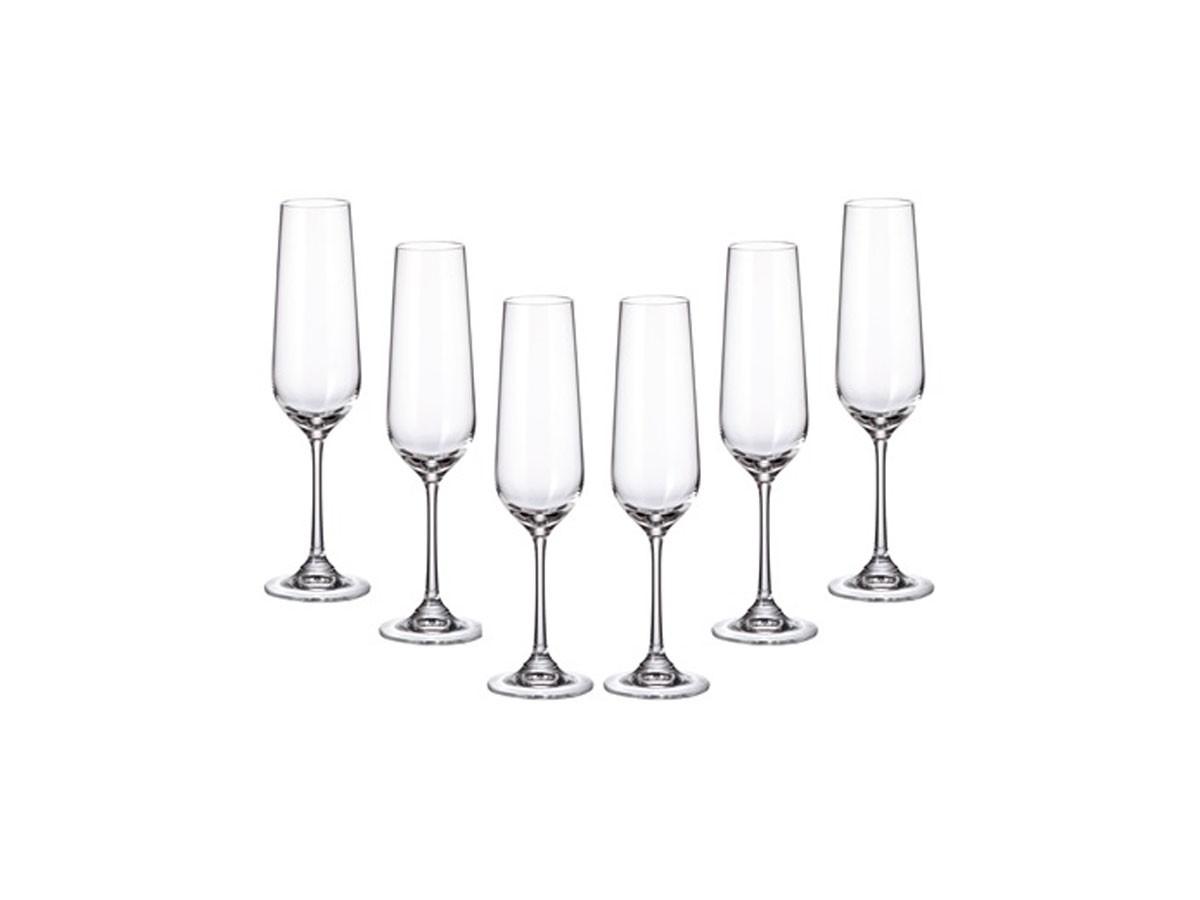 Jogo 6 Taças Cristal Ecológico Strix Champagne 200 ml