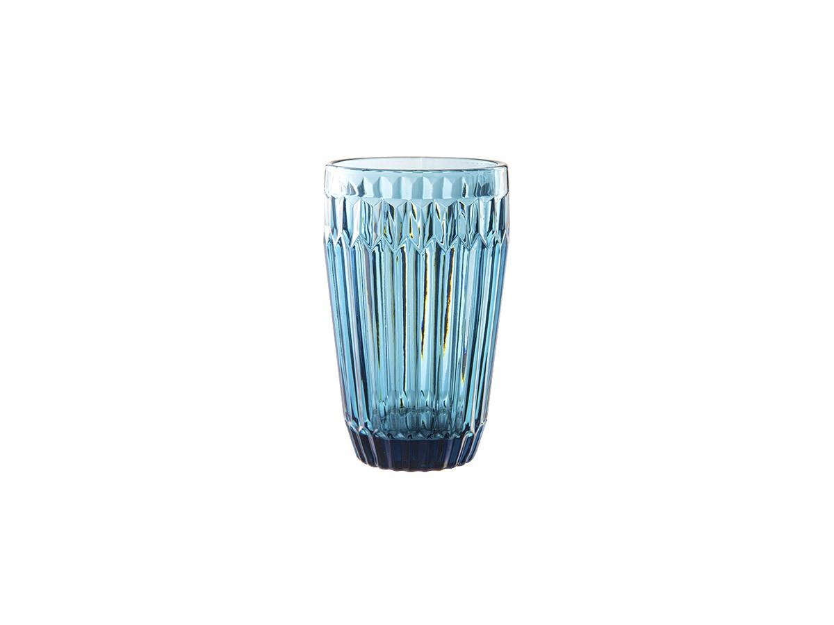 Jogo de 06 copos em vidro azul Bretagne - 355 ml