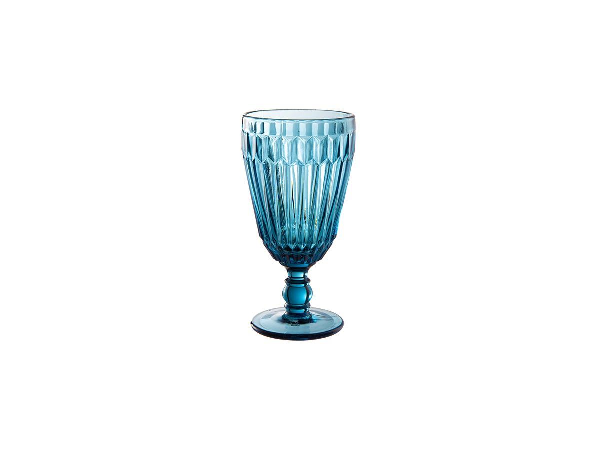 Jogo de 06 taças Bretagne em vidro Azul - 330 ml