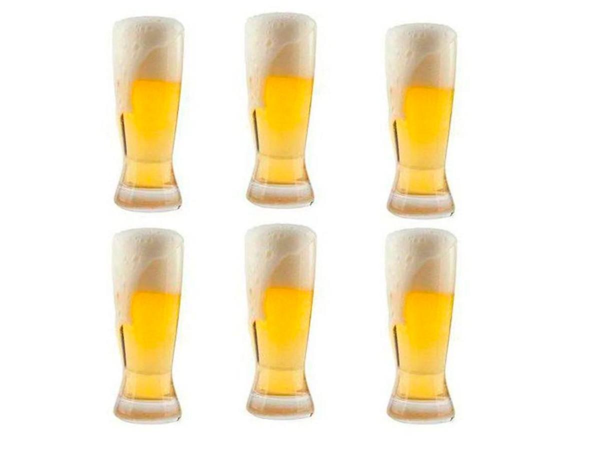 Jogo De Copos Para Cerveja Catarinense 6 Peças Em Cristal Ecologico 210ml