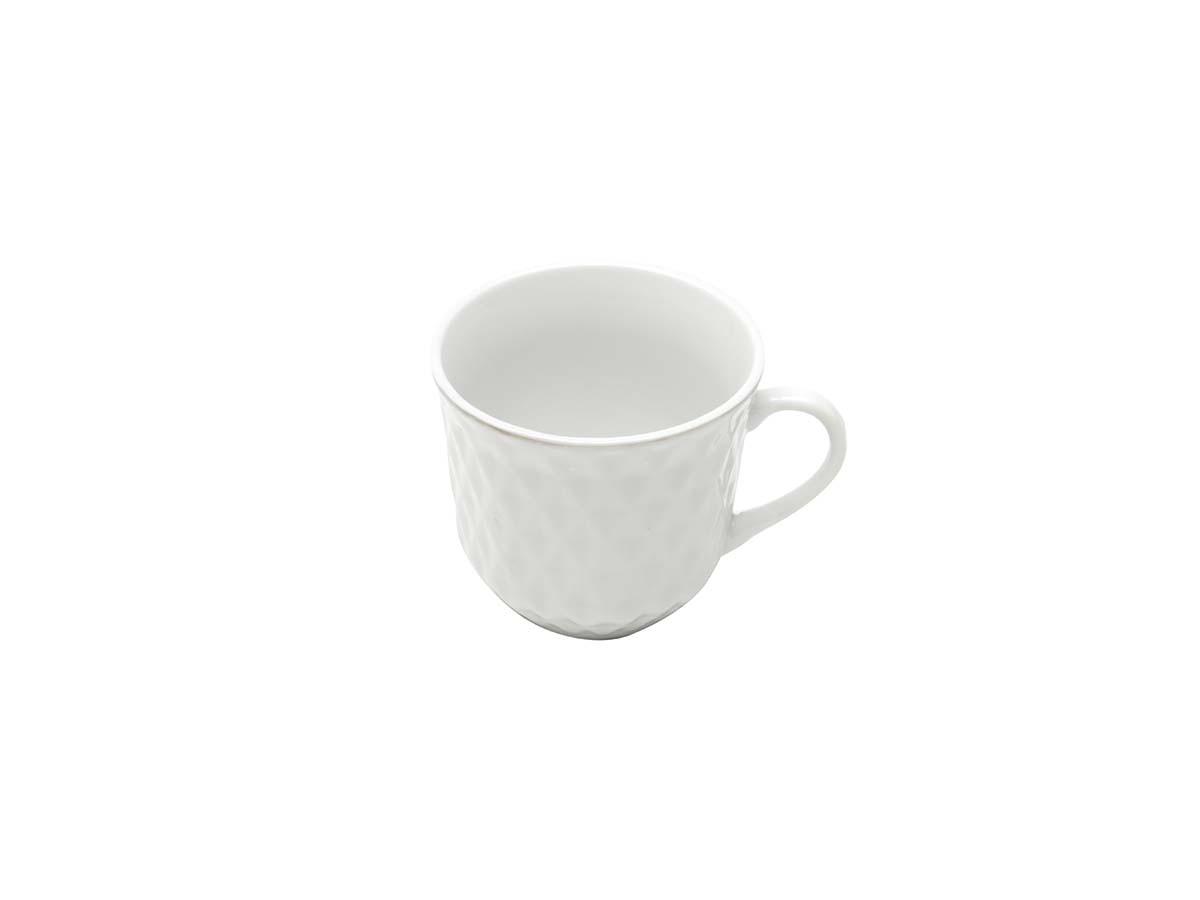 Jogo De Xícara P/Café Porcelana Branca