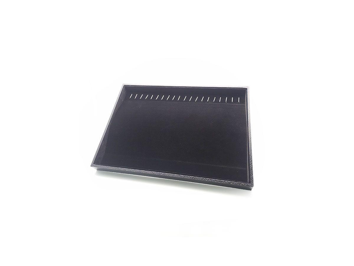 Kit 4 Bandejas Porta Joias para Colar Aveludada Courino 35x24x3cm