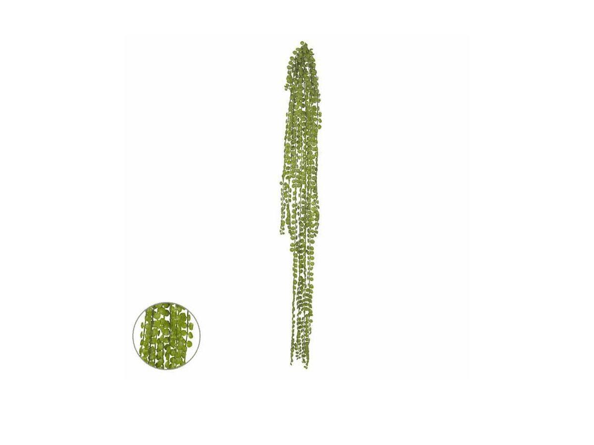 Kit 6 Pendente Folhagem Grass X10 Verde 94cm