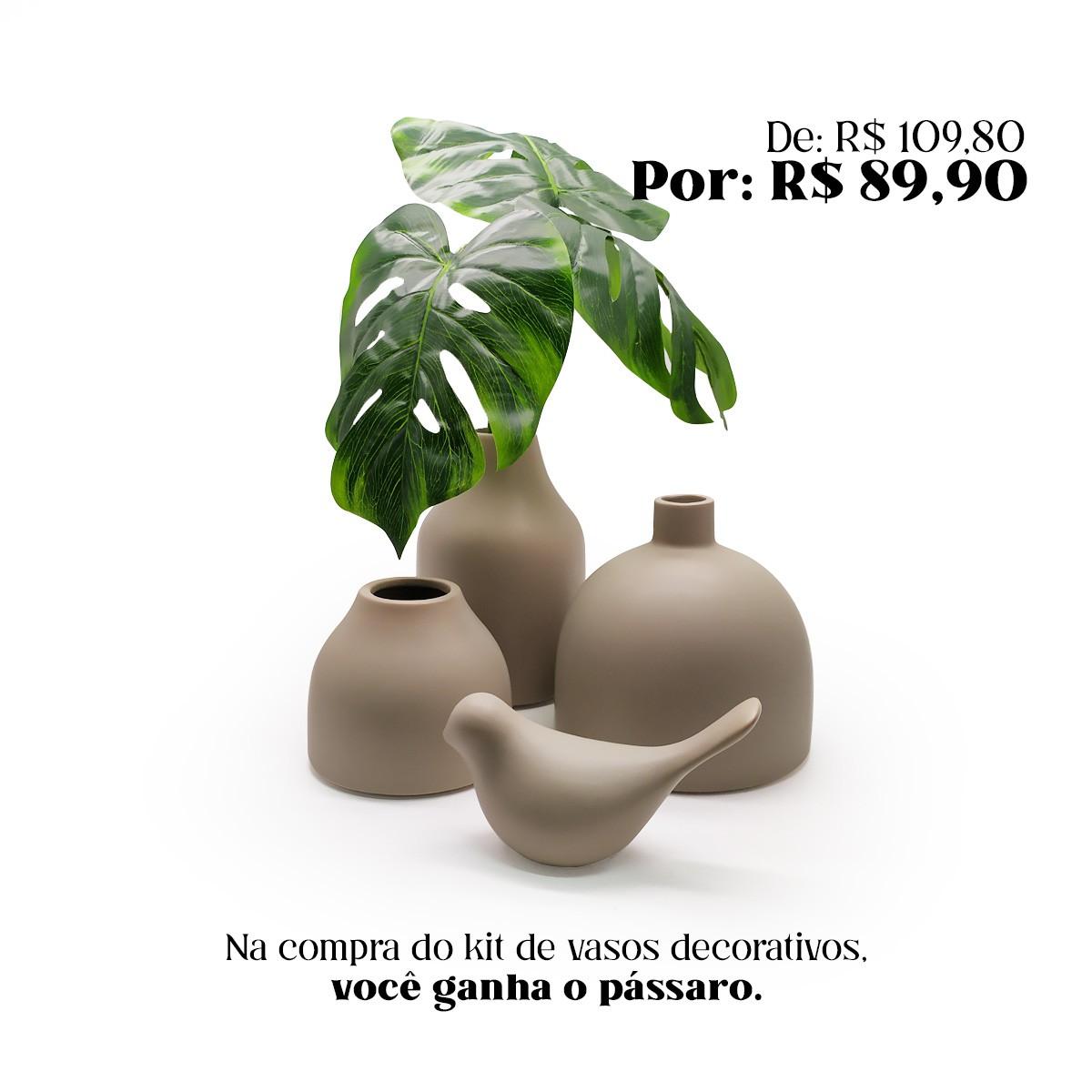 Kit de Vasos Decorativos - Fendi