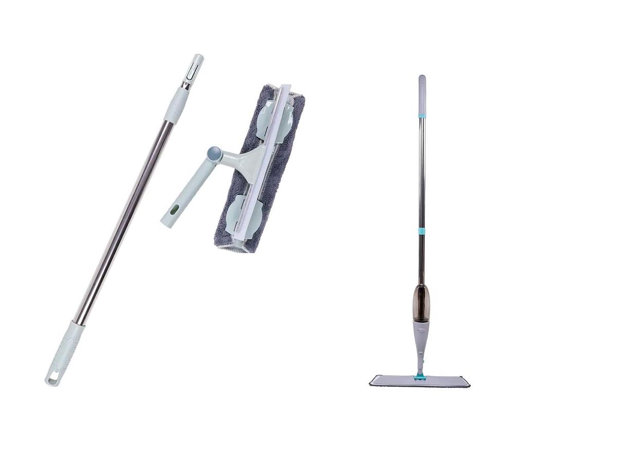 Kit Limpa Vidro e Mop Spray