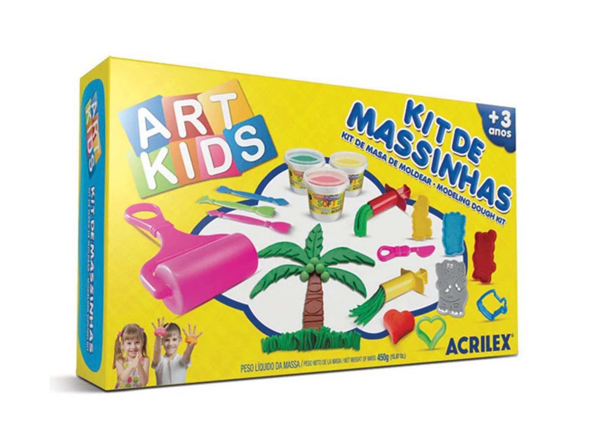 Kit Massinha Art Kids - 450g