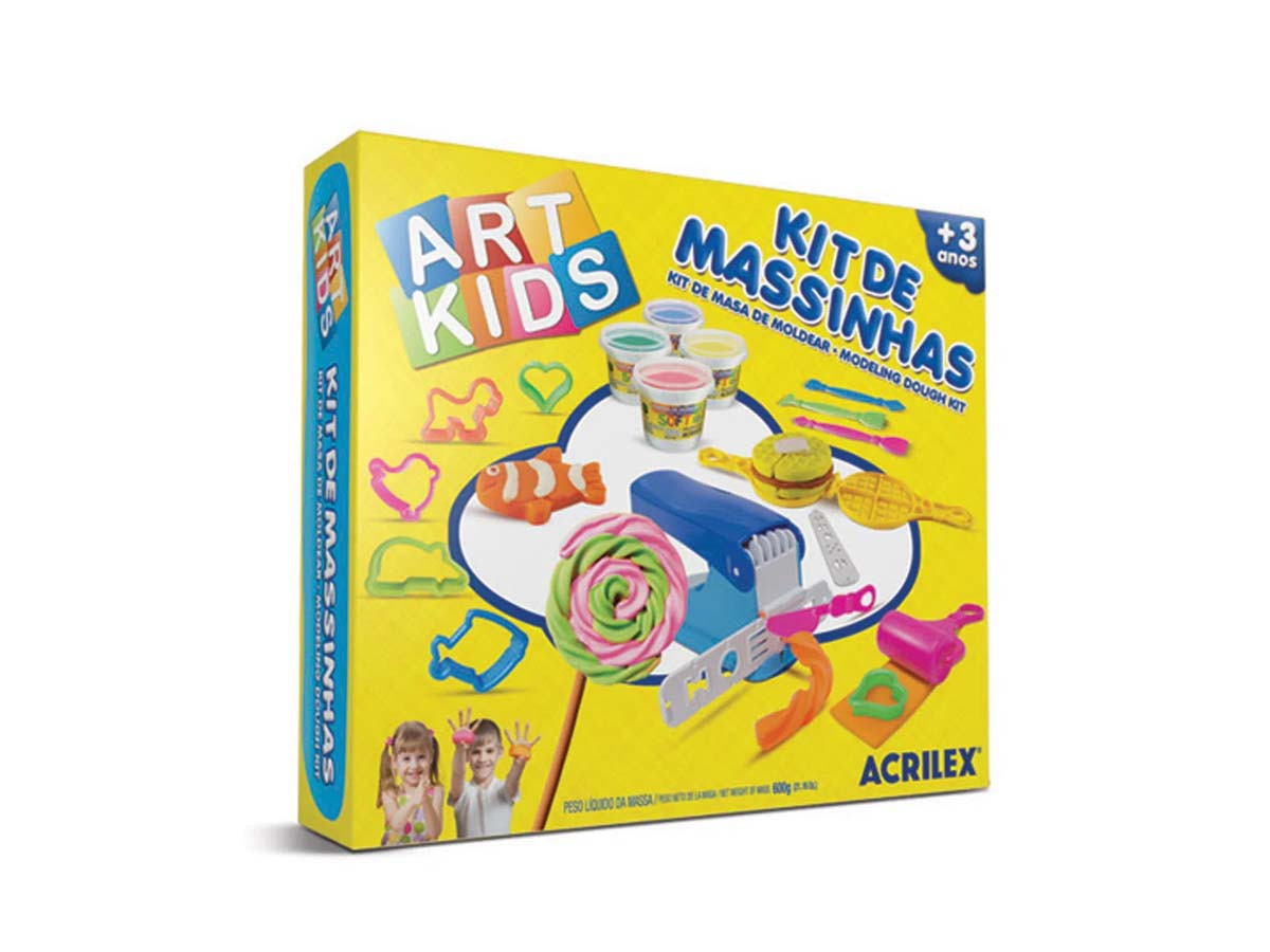 Kit Massinha Art Kids - 600g
