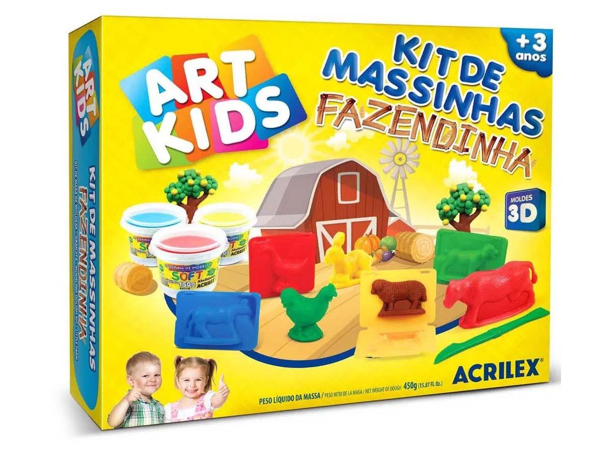 Kit Massinha Art Kids Fazendinha - 450g