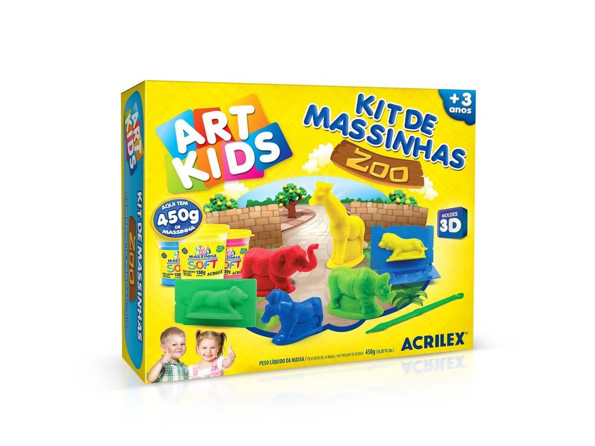 Kit Massinha Art Kids Zoológico - 450g