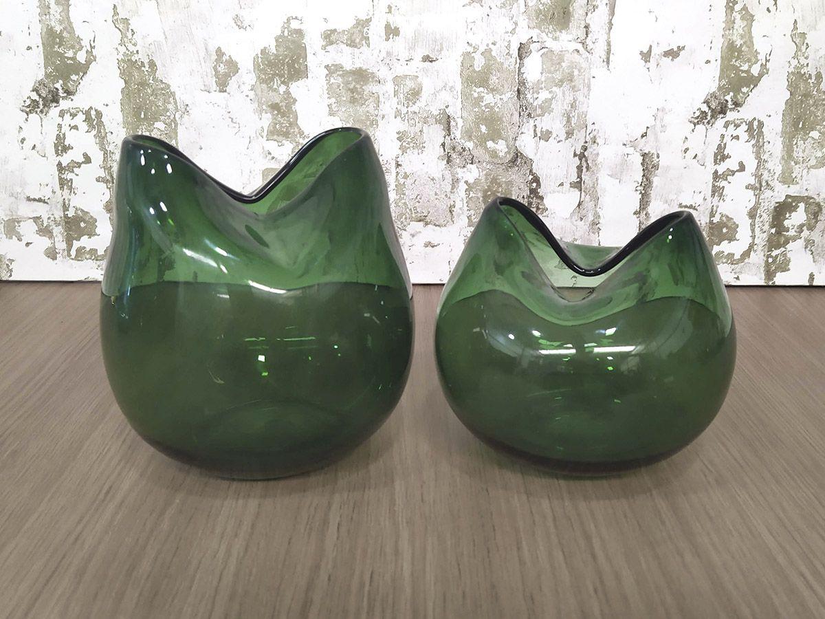 Kit Vaso de Vidro 2 Peças Cores