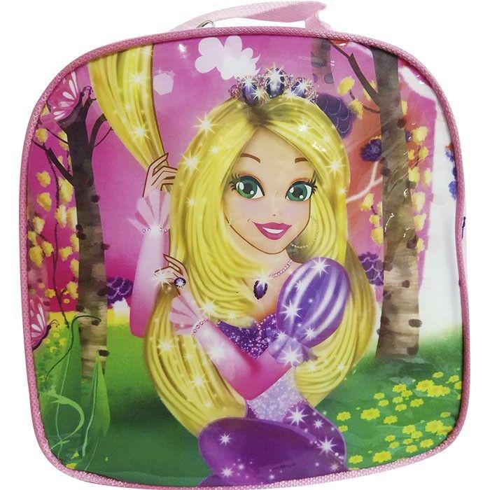 Lancheira Infantil Térmica Rapunzel Rosa