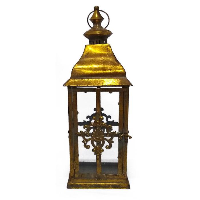 Lanterna De Metal Montemor Dourada 48X17Cm 84901