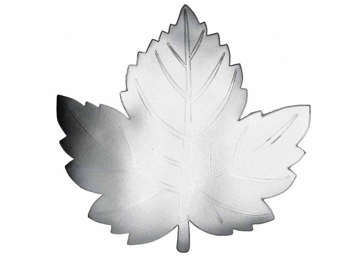 Lugar Americano Folha prateada em PVC - 38 x 38 cm