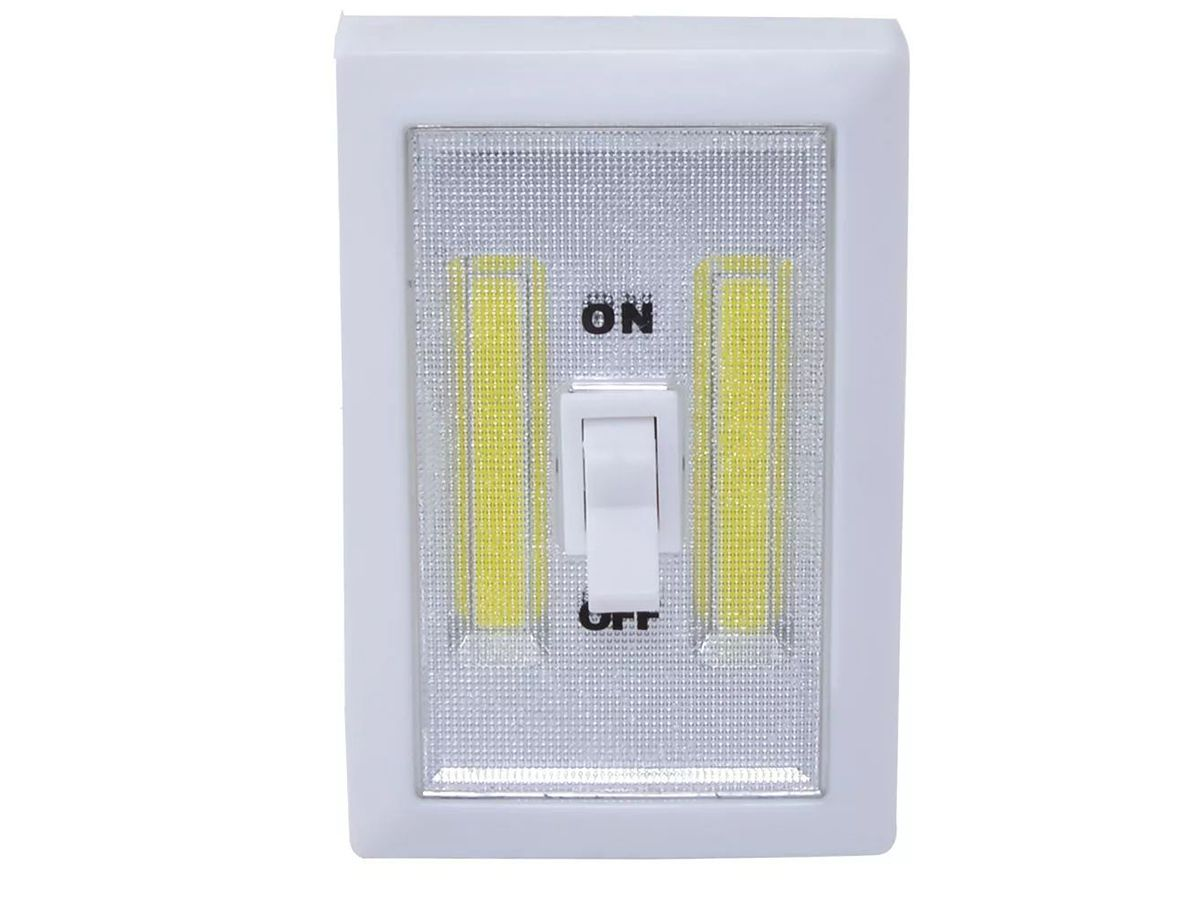 Luminaria Led Tipo Interruptor Sem Fio Branco Brilhante