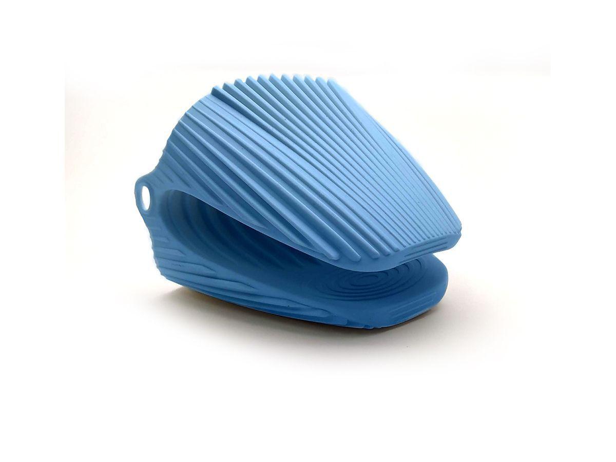 Luva Térmica Pegador Em Silicone 9,5X9,5Cm Azul