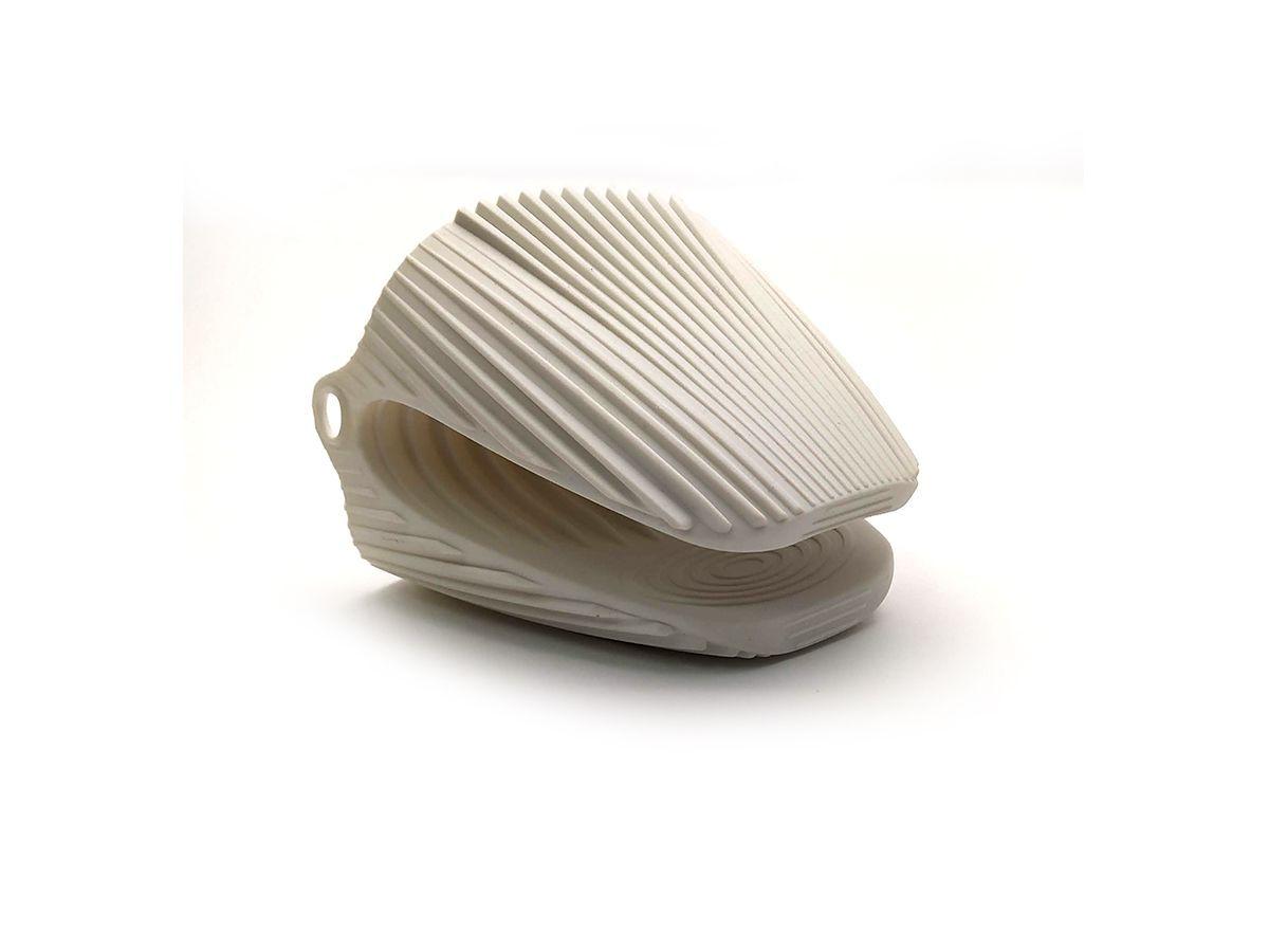 Luva Térmica Pegador Em Silicone 9,5X9,5Cm Branco