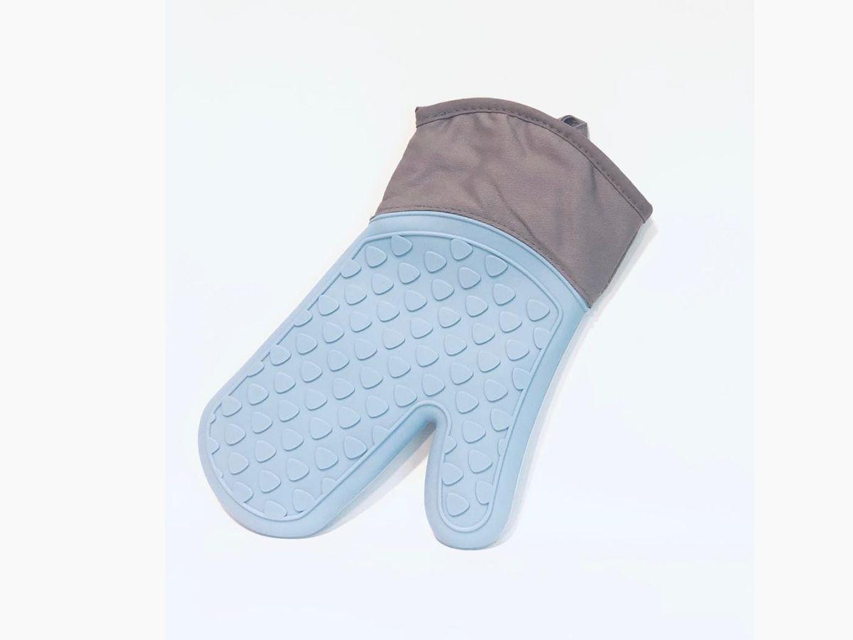 Luva Térmica Pegador Em Silicone Com Proteção 28Cm Azul
