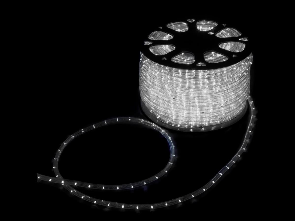 Mangueira Led Alto Brilho Decoração Natal 2400 LEDs 11mm Branco Frio