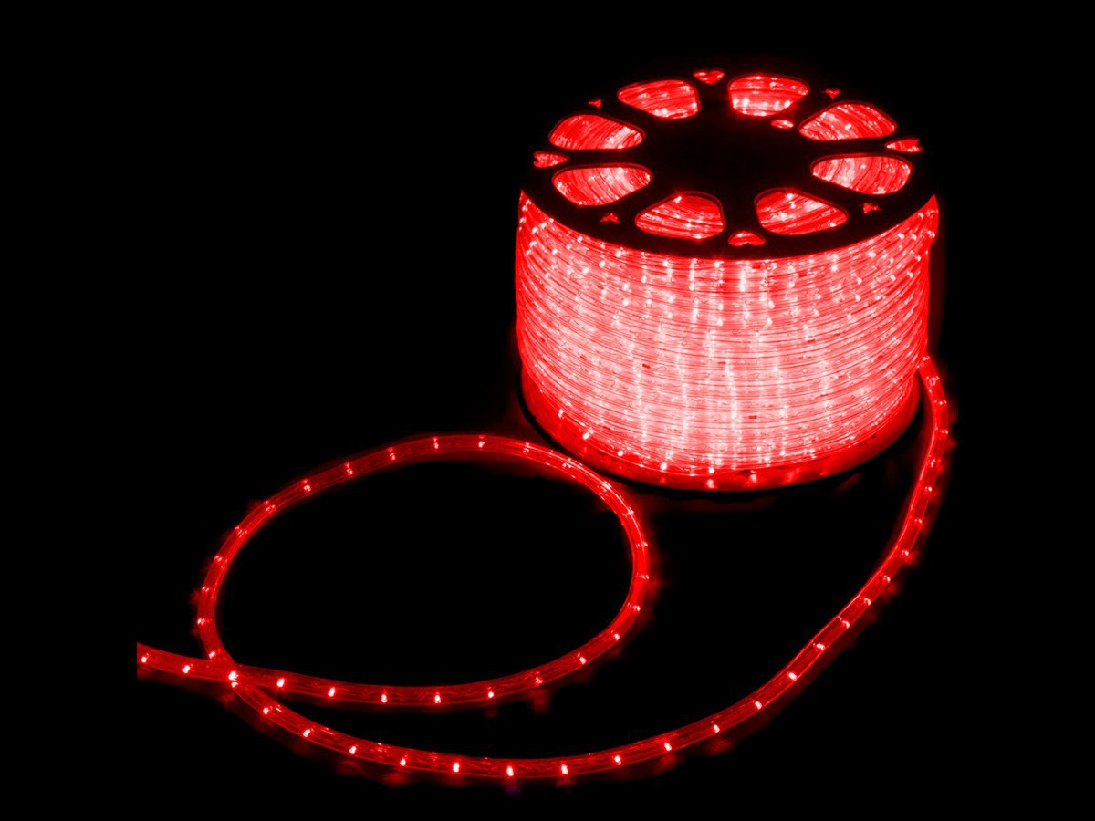 Mangueira Led Alto Brilho Decoração Natal 3000 LEDs 13mm Vermelho