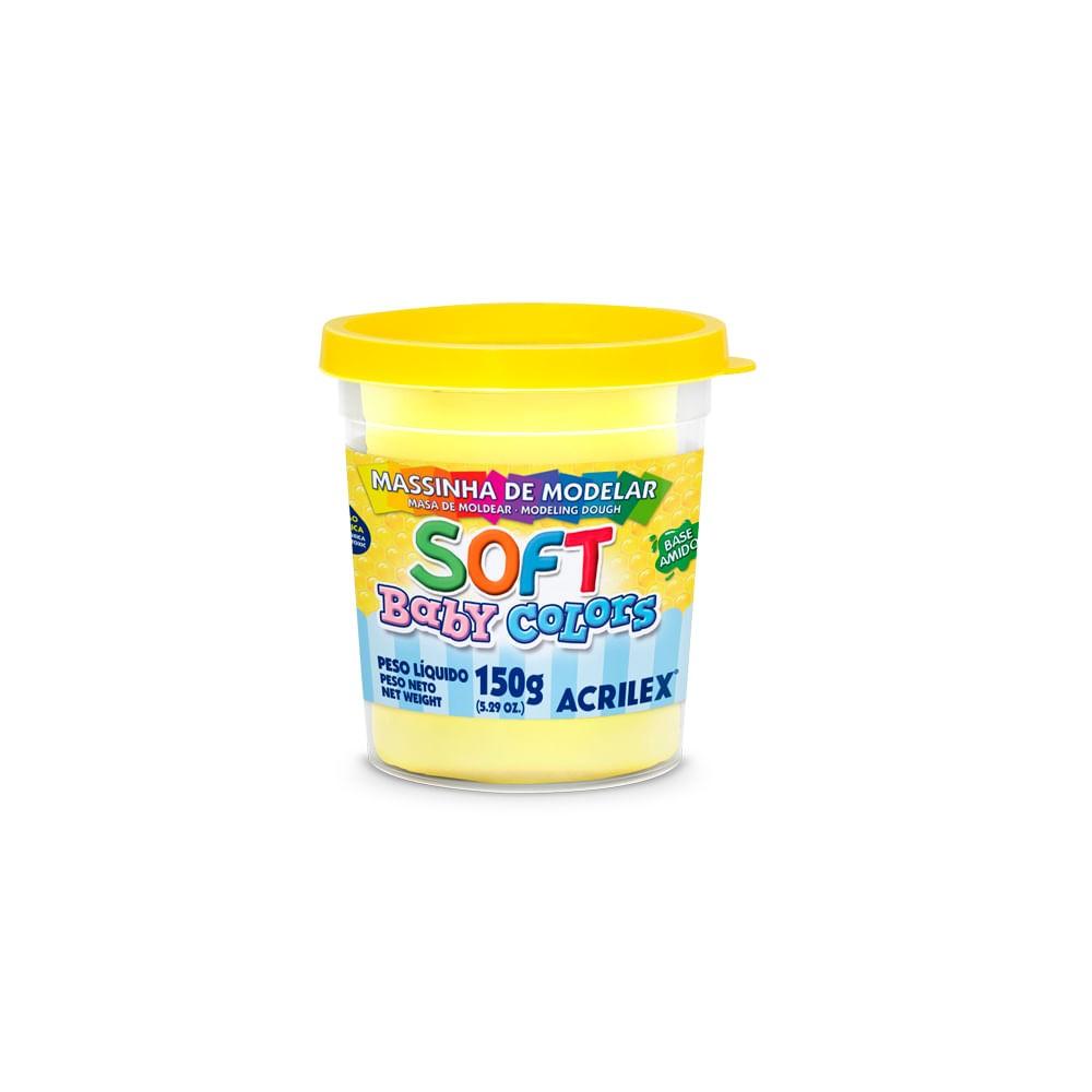 Massa De Modelar Soft 150Gr Amarelo Bebe