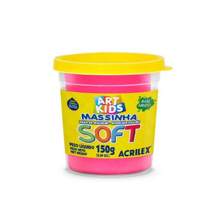 Massa De Modelar Soft 150Gr Pink